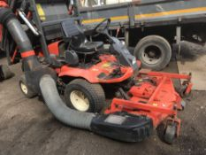 Kubota F3060 out-front rotary mower c/w rear powered high lift collector, yr2003 SN: 62457 When