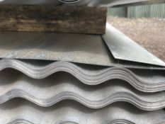 Pack of 50no. 12ft length corrugated galvanised roof sheets