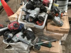 Qty of air operated nail guns and collated nails