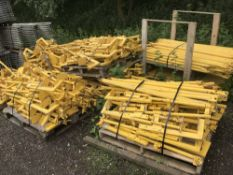 10NO. PALLETS OF AIRTEK SPECIALIST STAIRWAY BARRIER HANDRAIL SCAFFOLD SYSTEM, USED ONCE ONLY IN 2016
