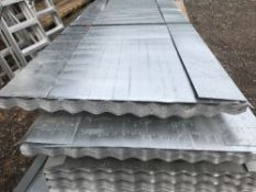 Pack of 25no. 8ft corrugated galvanised roofing sheets