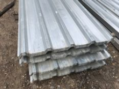 Pack of 25no. 12ft box profile galvanised roof sheets