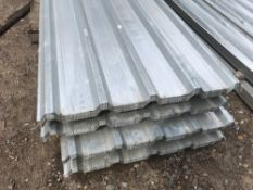 Pack of 25no. 8ft galvanised box profile roof sheets