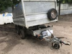 TWIN AXLED ELECTRIC TIPPING CAR TRAILER