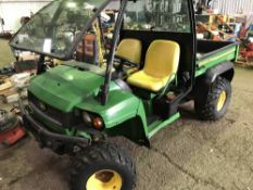 John Deere diesel Gator, yr2007 approx. WHEN TESTED WAS SEEN TO RUN AND DRIVE..SEE VIDEO
