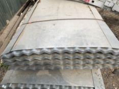 Pack of 50no. 10ft galvanised corrugated roof sheets