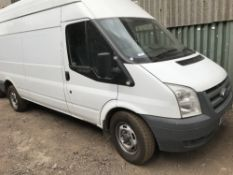 FORD TRANSIT LW8 HIGH TOP PANEL VAN, REGISTRATION: NX61 CMO. 158863 RECORDED MILES. DIRECT FROM