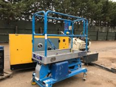 POWER TOWER BATTERY POWERED PERSONNEL LIFT. WHEN TESTED WAS SEEN TO LIFT AND LOWER
