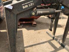 Kingshoffer KM331 lorry crane brick grab c/w rotator NO VAT ON HAMMER PRICE