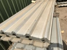 50no 10ft galvanised box profile roof sheets