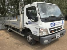 MITSIBISHI 7C18 CANTER DROP SIDE TRUCK, REGISTRATION: AV60 OHK, COMES WITH LOG BOOK. NON RUNNER,