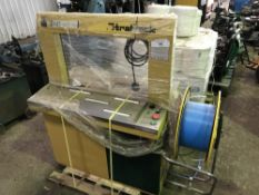 STRAPACK BANDING STATION WITH PALLET OF BANDING MATERIAL NO VAT ON HAMMER PRICE