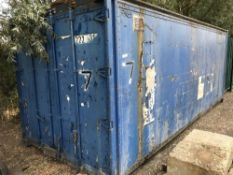 BLUE 20FT STORAGE CONTAINER, LINED INTERIOR, NO VAT ON HAMMER PRICE