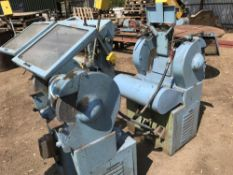 2X HEAVY DUTY PEDESTAL GRINDERS, DIRECT FROM COMPANY LIQUIDATION