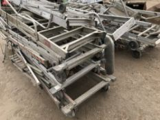 QUANTITY OF ZARGES TYPE QAND OTHER STEP LADDERS. NO VAT ON HAMMER PRICE