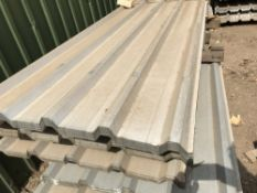 Pack of 50no. 12ft galvanised box profile roof sheets