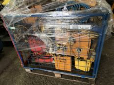 STILLAGE OF APPROX 6NO TRANSFORMERS, JUNCTION BOXES PLUS LEADS ETC. DIRECT FROM COMPANY LIQUIDATION