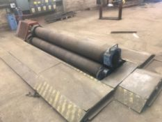 """CARL HOFFMAN 10FT X INCH AND QUARTER PYRAMID BENDING ROLLS WITH DROP END. 18"""" DIAMETER TOP"""