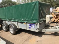 IFOR WILLIAMS GD125 TRAILER WITH TARPAULIN COVER, YEAR 2014 SN:SCKD00000E641747 NO VAT ON HAMMER