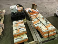 15X BOXES OF PASLODE NAILS, NO FUEL CELLS, PLUS QUIANTITY OF SPIT FIXINGS ETC.