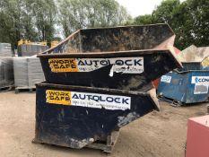 2 x Forklift skips, suitable for telehandler