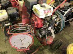 HONDA 9HP ENGINED TREE / VINEYARD PRUNING COMPRESSOR C/W HOSE, NO ATTACHMENTS NO VAT ON HAMMER