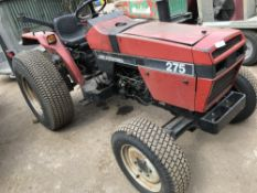 CASE 275 4WD TRACTOR, COMES WITH REAR LINKAGE. WHEN TESTED WAS SEEN TO DRIVE, STEER AND BRAKE,