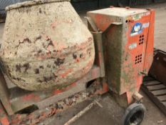 BELLE 100XT DIESEL SITE MIXER, WHEN TESTED WAS SEEN TO RUN AND DRUM TURNED