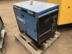 SDMO DIESEL 6000E SKID GENERATOR WHEN TESTED WAS SEEN TO RUN AND MAKE POWER..NOT LOAD TESTED
