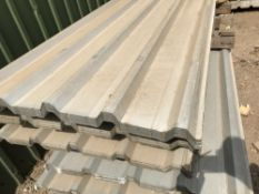 50no 8ft galvanised box profile roof sheets
