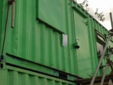 Drying Room 20' x 8' Office NB: Containers/cabins will be single stacked, ready for collection.