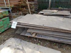 Assorted bundles of Steel Plate - Various sizes and off cuts LOT LOCATION: TN14 6EP. OKEEFE