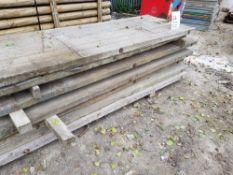 Wooden Navi/bog Mats 950mm Wide, 75mm Thick 8No @ 5.0m, 4No @ 3.0m LOT LOCATION: 2 Main Road,