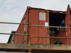 Stores – Red Container 20' x 8' NB: Containers/cabins will be single stacked, ready for