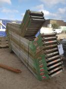 Layher Stair SystemAssorted Frames Ledgers and Stairs LOT LOCATION: TN14 6EP. OKEEFE STORAGE YARD, 2