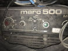 MARC500 MIG WLEDER PLUS ASSOCIATED EQUIPMENT AS SHOWN, SOURCED FROM COMPANY LIQUIDATION
