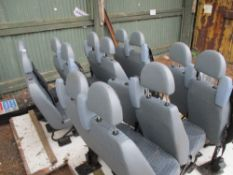 QTY OF FORD TRANSIT MINIBUS VEHICLE SEATS SOLD UNDER THE AUCTIONEERS MARGIN SCHEME: NO VAT CHARGED