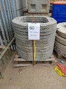 Circular Concrete biscuits - 13No 900mm diameter with 600 x 600 hole. 75mm thick