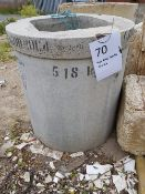 900 diameter concrete x 1000 High + Cover Ring