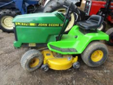 John Deere LX178 ride on mower WHEN TESTED WAS SEEN TO DRIVE, STEER AND BRAKE SOLD UNDER THE
