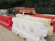 Orange / red & White Plastic Vehicle and pedestrian Barriers - 16No 2.0m long LOT LOCATION: TN14