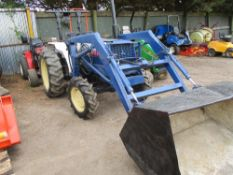 MITSUBISHI COMPACT TRACTOR WITH LOADER WHEN TESTED WAS SEEN TO DRIVE, STEER AND BRAKE AND LOADER