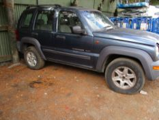 JEEP CHEROKEE DIESEL, BLUE, REG:PJ52 ODL NEEDS NEW KEY BARREL WHEN TESTED WAS SEEN TO START DRIVE