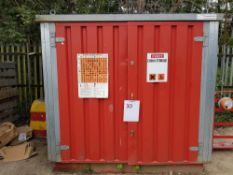 COSHH Store – Red 2.5 x 2.5m…CONTENTS NOT INCLUDED NB: Containers/cabins will be single stacked,