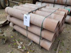 12No 225 diamter clay pipe 2.0m long