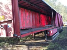 Triaxled artic curtainside trailer. TEST EXPIRED