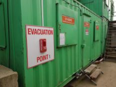 Office 20' x 8' OFC39 NB: Containers/cabins will be single stacked, ready for collection. Buyer