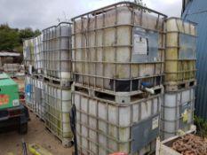 10No IBC Units, 1.0m x 1.0m plastic containers