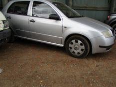 SKODA FABIA DIESEL CAR, SILVER, REG. PF02 YBB 144,646 REC MILES WHEN TESTED WAS SEEN TO DRIVE