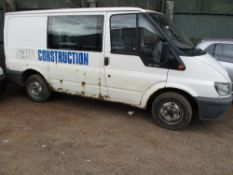 FORD TRANSIT CREW VAN, REG:NL05 LKN WHEN TSTED WAS SEEN TO START, DRIVE AND BRAKE